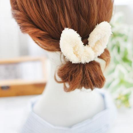 plush rabbit ears hair ring hair rope cute Korean version furry head rope NHAYP458099's discount tags