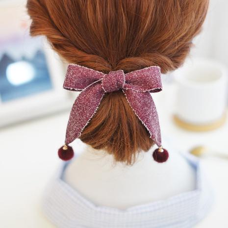 New Snowflake Ribbon Bow Knot Hair Rope Hair Rope Wholesale NHAYP458102's discount tags