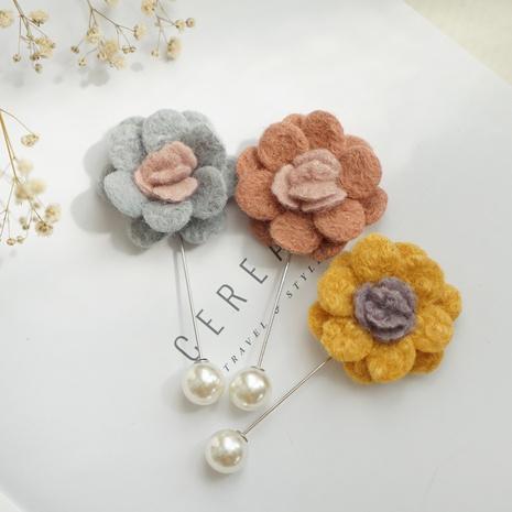 Fashion Korean Woolen Fabric Handmade Camellia Brooch  NHAYP458105's discount tags