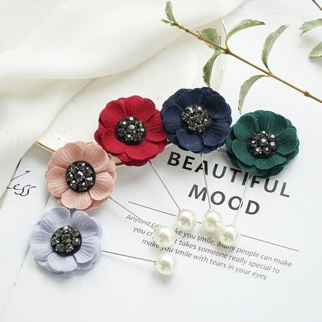 Retro style inlaid rhinestones Korean brooch fashion camellia flower brooch  NHAYP458111's discount tags