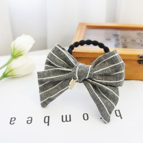 Simple striped Korean version of the bowknot hair rope  NHAYP458126's discount tags
