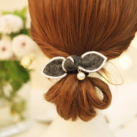 Korean Wool Bunny Ear Hair Tie Bow Hair Tie Korea Hair Rope  NHAYP458128's discount tags