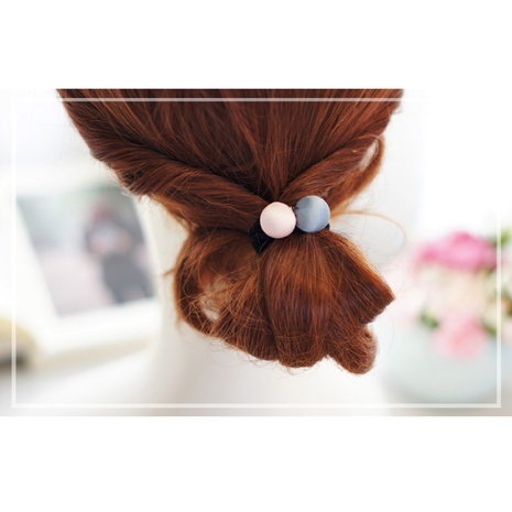 Matte Satin Ball Korean Head Rope Hair Tie Hair Rope  NHAYP458145's discount tags