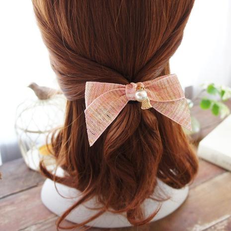 simple rubber band hair ring pearl small tassel Korean head rope NHAYP458150's discount tags