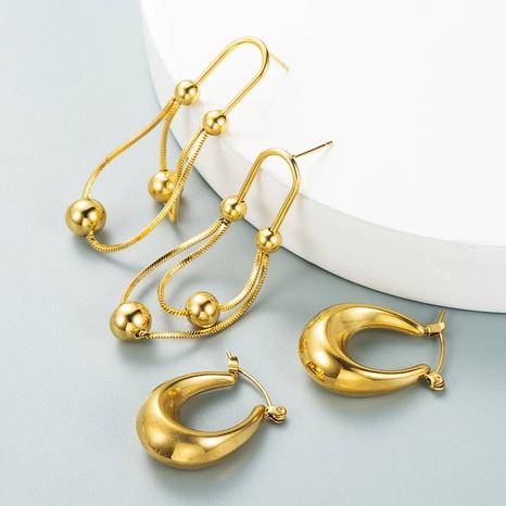 minimalist earrings temperament all-match popular metal earrings NHLN458226's discount tags