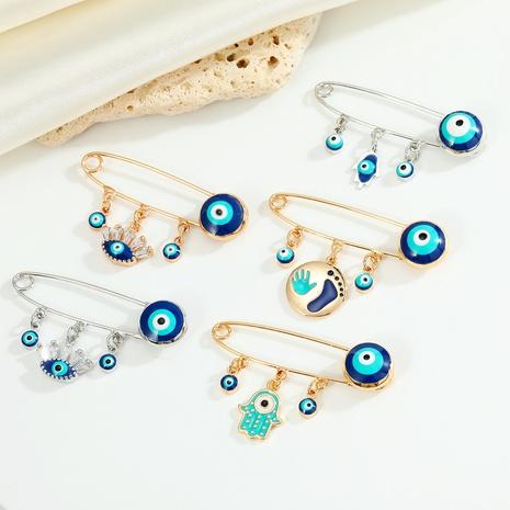 New Turkey Blue Eye Brooch Palm Pendant Badge Eye Brooch  NHGO458327's discount tags