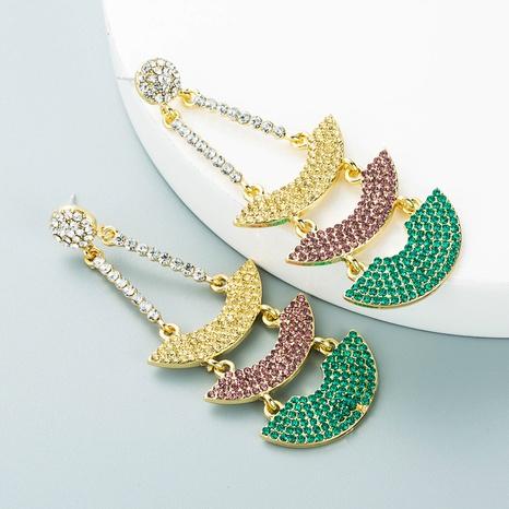 Korean alloy rhinestone sailing earrings personality temperament earrings NHLN458341's discount tags