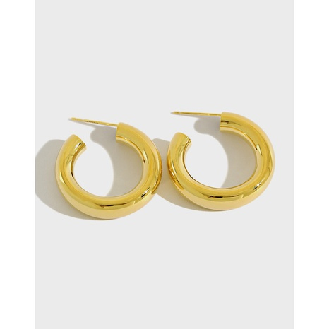 YEA396 S925 Sterling Silver Stud Earrings C-shaped Exaggerated Earrings NHFH437062's discount tags