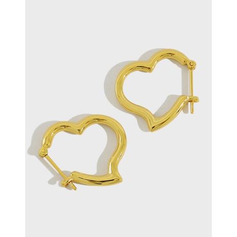 397 Korean S925 Sterling Silver INS Earrings Heart Earrings NHFH437074's discount tags