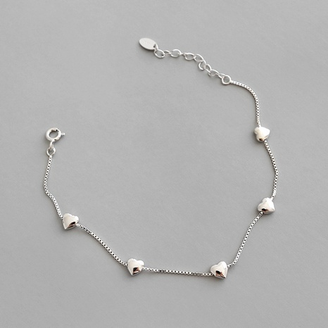 HSL006 Korean version of sterling silver S925 personality minimalist creative glossy bracelet  NHFH437075's discount tags
