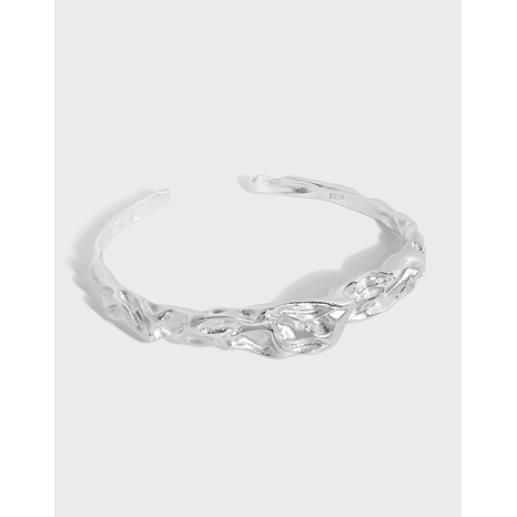 212 Korean version of dark black hand-made fold texture S925 sterling silver bracelet  NHFH437083's discount tags