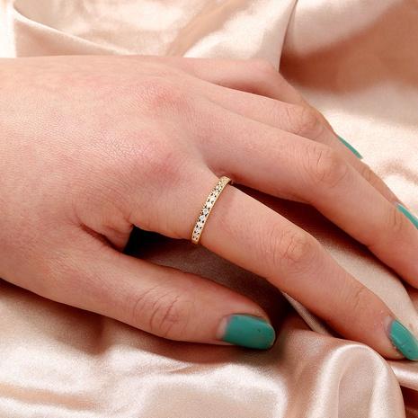 Anillo de moda nuevo diseño de nicho estilo coreano simple estilo frío con incrustaciones de cobre circón joyería de estilo europeo y americano al por mayor NHDB437837's discount tags