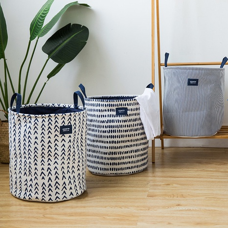 thick double-layer storage bucket storage basket laundry basket dirty clothes hamper  NHQMH438091's discount tags
