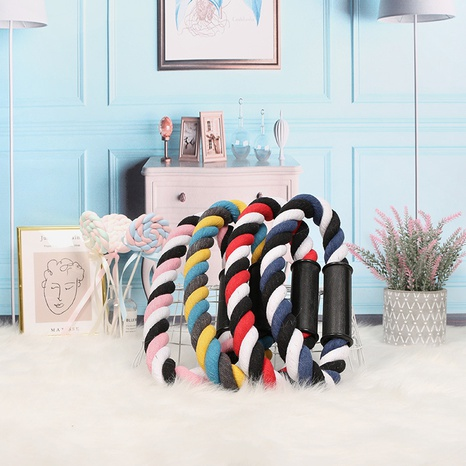 Pet toys bite-resistant woven cotton rope dog molar teeth cleaning toy medium and large dog cotton rope ring spot wholesale NHZHX438141's discount tags