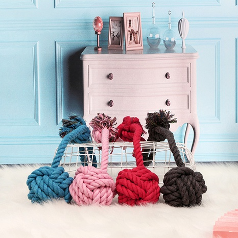 dog toy Teddy bite resistant dog ball dog bite cotton rope knot cat toy pet toy supplies cotton ball NHPSM438185's discount tags