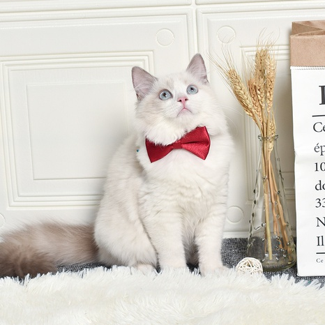 pet bow tie dog cat bow tie British style classic dog bow tie plaid multicolor cat bow tie NHPSM438183's discount tags