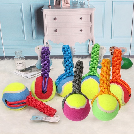 cotton thread rugby toy pet dog wear-resistant bite resistant cotton thread knot toy ball ball interactive training ball NHPSM438176's discount tags