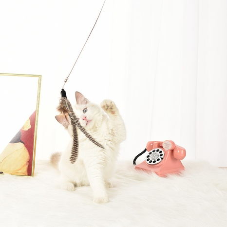 wholesale pet dog cat toy feather mint funny cat stick cat fishing rod pet cat supplies NHPSM438164's discount tags