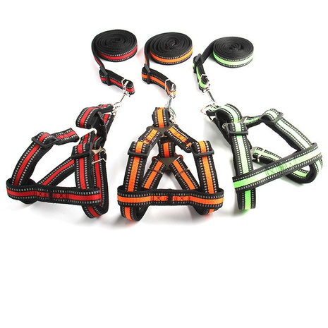 new pet leash dog Reflective chest harness for small and medium-sized dogs dog leash wholesale NHZHX438137's discount tags