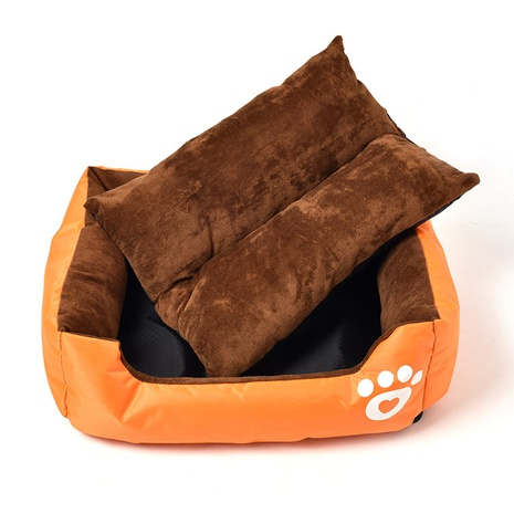 winter footprint doghouse soft and comfortable cotton wool pet cage waterproof bite resistant square pet bed NHZHX438146's discount tags