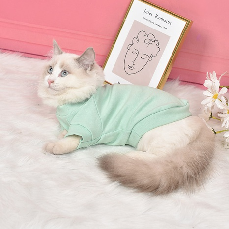 new pet clothes dog clothes Teddy Bichon autumn and winter clothes two-legged clothes cat clothes spot wholesale NHZHX438151's discount tags