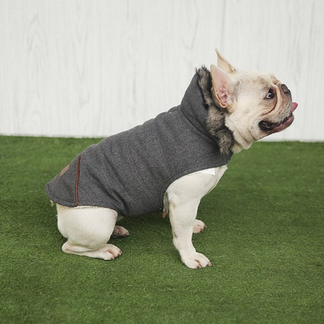 Pet clothes autumn and winter plus velvet thickening method Teddy cotton coat pet clothing winter dog clothes wholesale NHZHX438152's discount tags