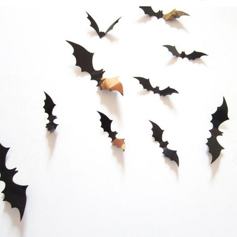 Halloween Bat Sticker Decoration Haunted House Wallpaper PVC Bar Atmosphere 3D Three-dimensional Ghost Festival Party Decoration Wall Sticker NHZHI438571's discount tags