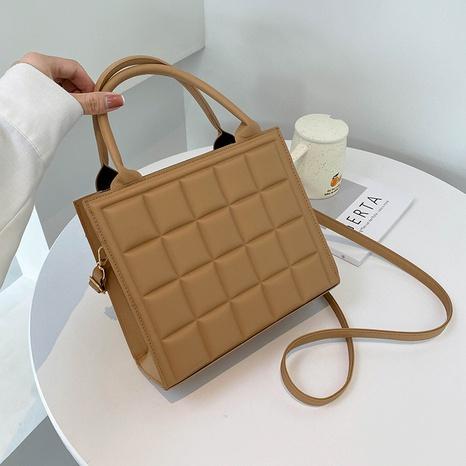 Korean version of fashion retro rhombus embroidery thread vertical square bag  NHRU438627's discount tags