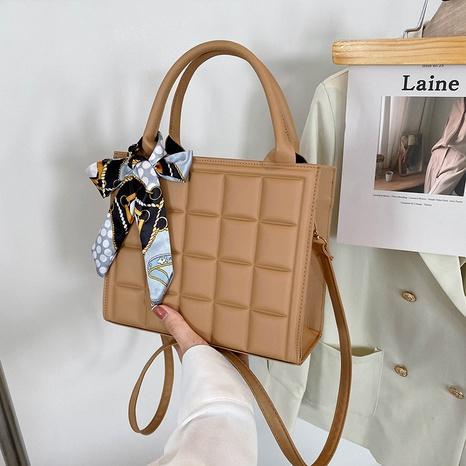fashion casual plaid embossing single shoulder messenger female bag Korean version popular bag NHRU438629's discount tags