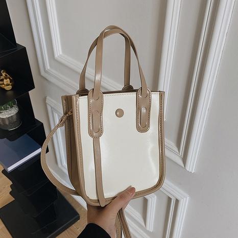 solid color large-capacity portable fashion one-shoulder messenger bag NHRU438642's discount tags