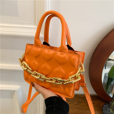 autumn fashion trend Korean one-shoulder messenger embossing square bag  NHRU438648's discount tags