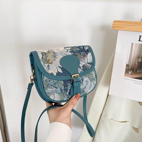 simple shoulder bag western style messenger handbags popular net red texture plaid bag NHRU438651's discount tags