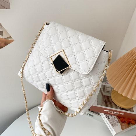 fashion western style messenger bag autumn and winter chain rhombus messenger bag NHRU438654's discount tags