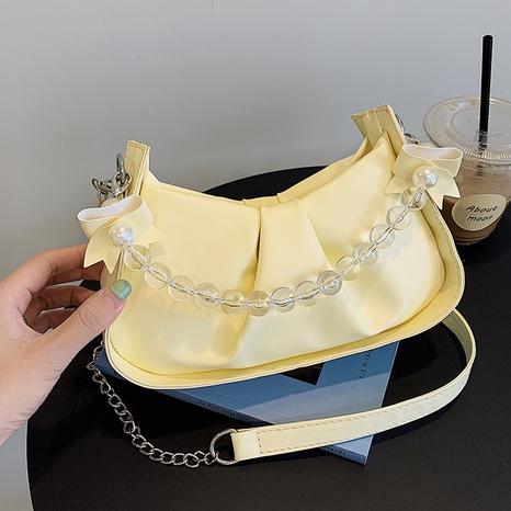 2021 new chain armpit bag autumn fold shoulder bag pearl handbag NHRU438658's discount tags