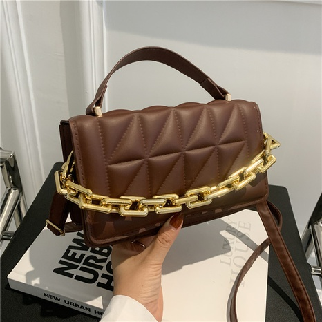 fashion autumn new PU synthetic leather small square  shoulder magnetic buckle messenger bag  NHRU438665's discount tags