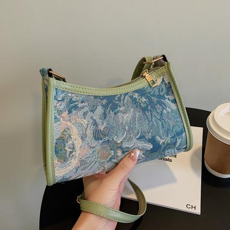 Fabric flower shoulder bag underarm women bag lace trendy bag NHXC439660's discount tags