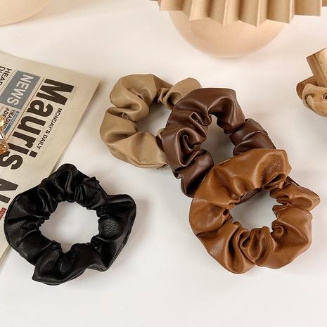 Coréen automne et hiver nouveaux accessoires pour cheveux en cuir couleur thé au lait NHMS439433's discount tags