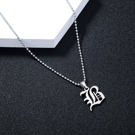 hot selling style stainless steel gothic letter M jewelry hip hop letter pendant jewelry necklace  NHDB439511's discount tags