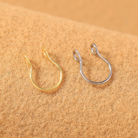 Personalized Design Stainless Steel U-shaped Nose Ring Nose Clip Set NHDB439530's discount tags