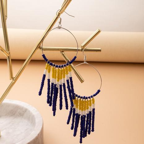 European and American cross-border new jewelry boho Christmas rice bead earrings NHGY445042's discount tags