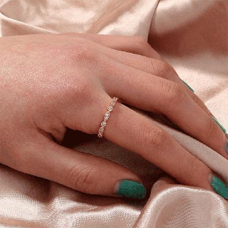 moda oro rosa micro diamante temperamento todo-fósforo anillo anillo de bodas mujeres NHDB439766's discount tags