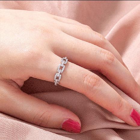 anillo de circón simple personalidad de la moda femenina retro cadena marea temperamento anillo de dedo índice NHDB439769's discount tags