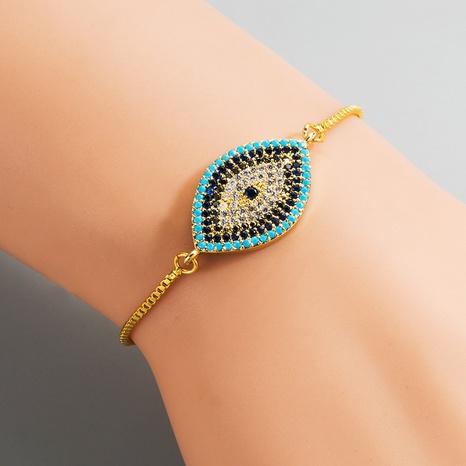 Fashion trend Devil's eye bracelet female copper micro-inlaid zircon bracelet NHYIS440107's discount tags