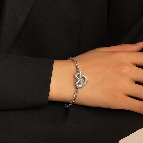 Net celebrity minimalist love bracelet retro copper inlaid zircon heart-shaped OT buckle bracelet NHDP440372's discount tags