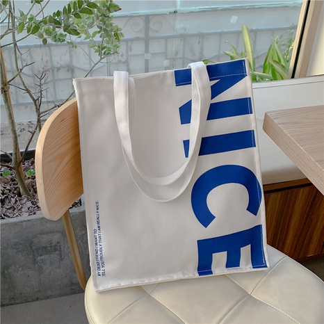 Korea one-shoulder canvas bag extra thick casual day miscellaneous canvas bag  NHJZ440605's discount tags