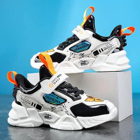 Spring and autumn wasp mecha leather cartoon children's sports shoes lightweight shoes NHLIA440953's discount tags