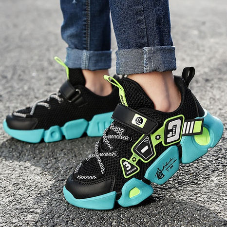 spring and autumn children's shoes mesh sneakers Korean version of lightweight shoes NHLIA440981's discount tags