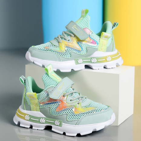 autumn and summer new single mesh hollow mesh sports casual shoes NHLIA440995's discount tags