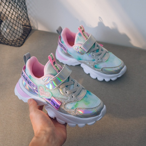 spring and autumn new girls shoelace light sneakers mesh shoes girl shoes NHLIA441009's discount tags