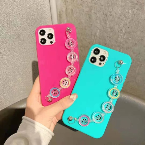 Jelly Smiley bracelet mobile phone case for iphone mobile phone case new protective cover NHKI441311's discount tags